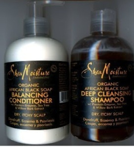 Shea Moisture's African Black Soap Shampoo & Conditioner