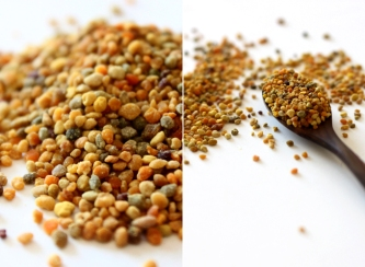 How beautiful is bee pollen!? All the different colours come from all of the different flowers the bees picked them from! *this image was taken from my fave site: http://www.mynewroots.org/site/2011/05/whats-all-the-buzz-about-bee-pollen-2/